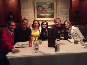 Dinner clients Steve Horst, Larry Stroud, Debbie,Larry, Jenna Larsen