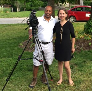 Tony West and Judy Leventhal on location.